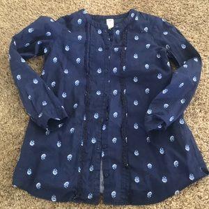Girls button down blouse